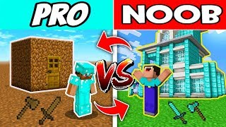Minecraft NOOB vs PRO : SWAPPED LIFE in Minecraft! Animation