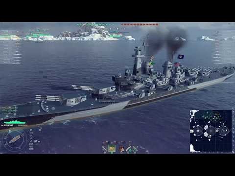 World of Warships - [Tier X] USS Montana on Islands of Ice [2017.08.26], Build 0.6.9.1