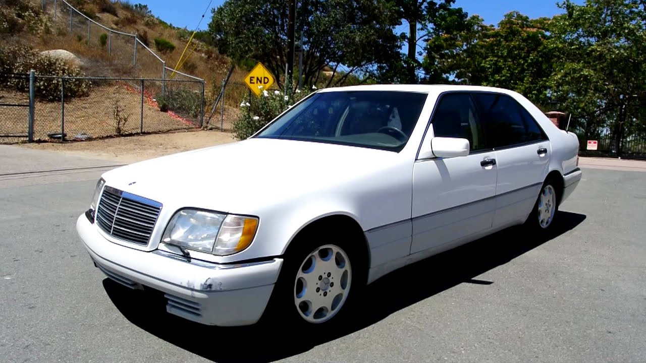 1995 2 owner mercedes benz s500 white s 500 w150 5 0l 8cyl 166k miles big body saloon youtube