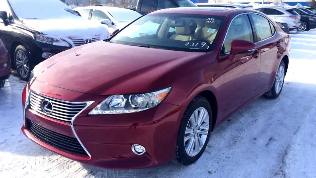 2014 Lexus ES 350 Leather And Navigation Package Review In Matador Red    YouTube