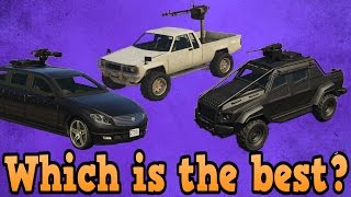 GTA online guides - Insurgent VS Turreted limo VS Karin Technical