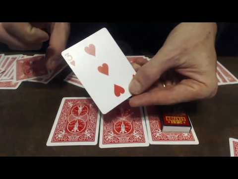 236# Prediction One Of Six Cards Magic Trick