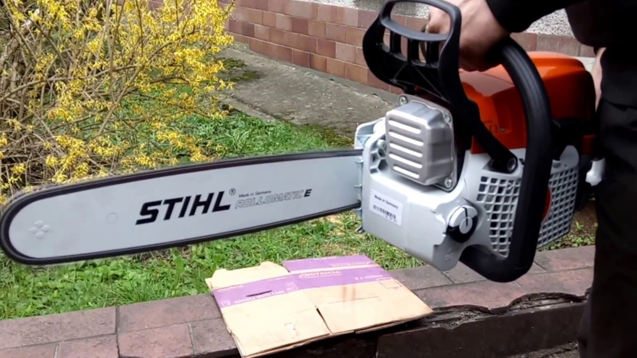 chainsaw stihl ms 311 first start and test youtube. Black Bedroom Furniture Sets. Home Design Ideas