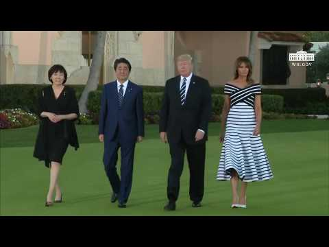 President Trump and The First Lady Friendship Walk with the Prime Minister of Japan