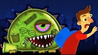 - ХИЩНЫЙ СЛИЗЕНЬ ХОЧЕТ КУШАТЬ 2 СЛИЗЕНЬ ЛЮДОЕД Мультик игра для детей Mutant Blobs Attack