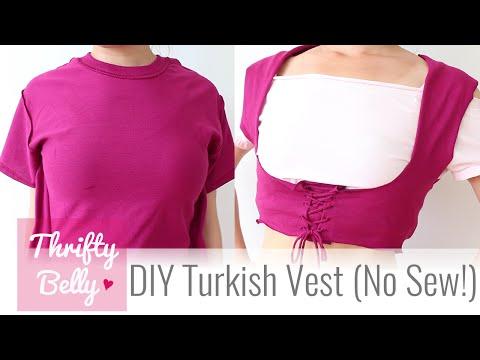 DIY Turkish Vest (No Sew!) - Thrifty Belly ep2