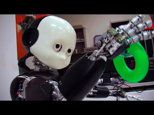 A screenshot from Teaching Bert: iCub Robot Learns About the World