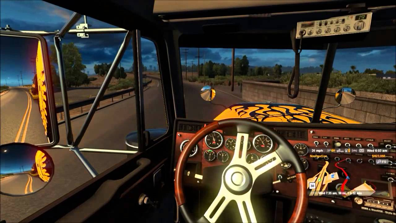 American Truck Simulator - Little Ride with New Steering Wheel
