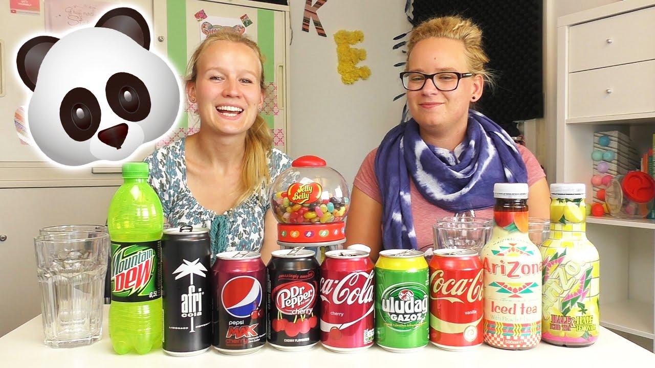 SODA CHALLENGE mit ekliger Bohnen Strafe | Getränke erschmecken mit ...