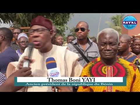 BENIN-SOCIETE / PRESENTATION DE CONDOLEANCES DE THOMAS BONI YAYI AU C A  AYIMASSE A BONOU