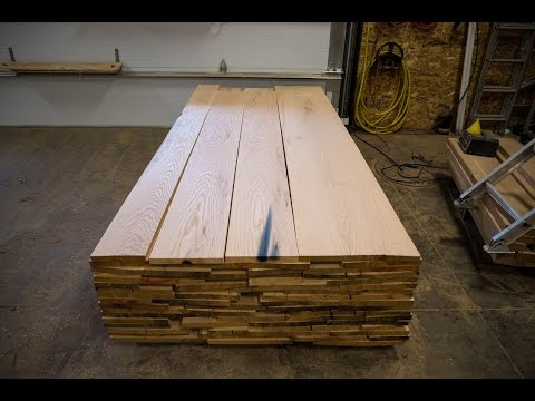 Planing Red Oak Milled on our Wood-Mizer Sawmill