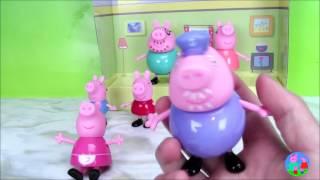 peppa pig family members粉紅豬小妹 佩佩的一家玩具中文故事過家家玩具 Learn Chinese