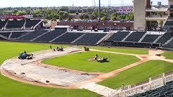 Transforming Isotopes Park into NM United soccer field
