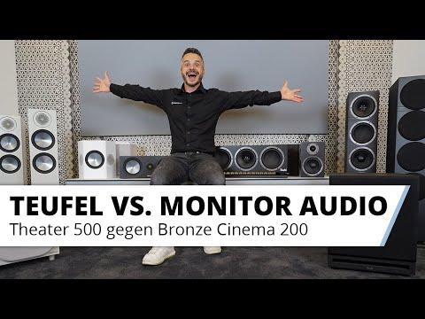 Lautsprecher Vergleich: Teufel Theater 500 gegen Monitor Audio Bronze Cinema 200 Set