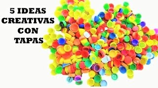 5 Creativas con  Tapas de Botella Plástica