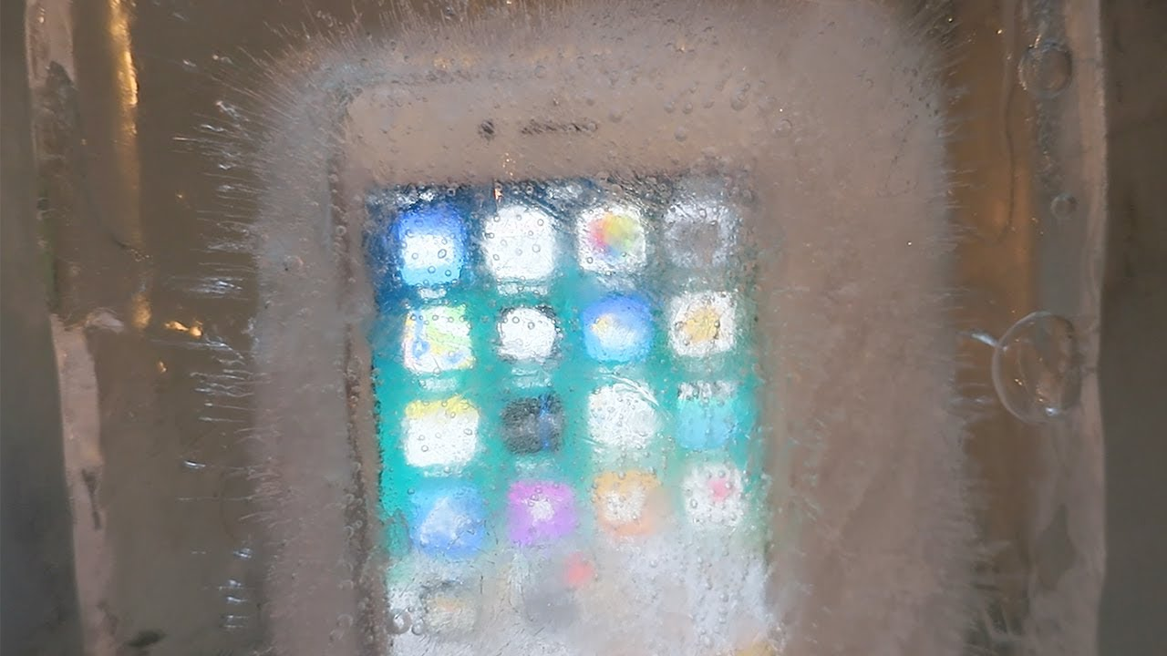 big sale ef3e9 7f47d iPhone 8 Water Freeze Test 24 Hours - YouTube