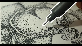 Stippling art | POINTILLISM | Abstract stipple drawing | doodle