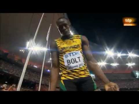 "USAIN BOLT: ""Red blood, no more""."