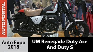 UM Renegade Duty Ace and UM Renegade Duty S - Auto Expo 2018
