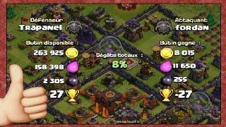 Des défenses (trop) faciles pour mon rush de trophées!   Clash of Clans