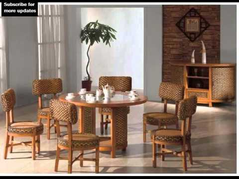 Indoor Wicker Dining Chairs | Collection Of Dining Room Furniture ...
