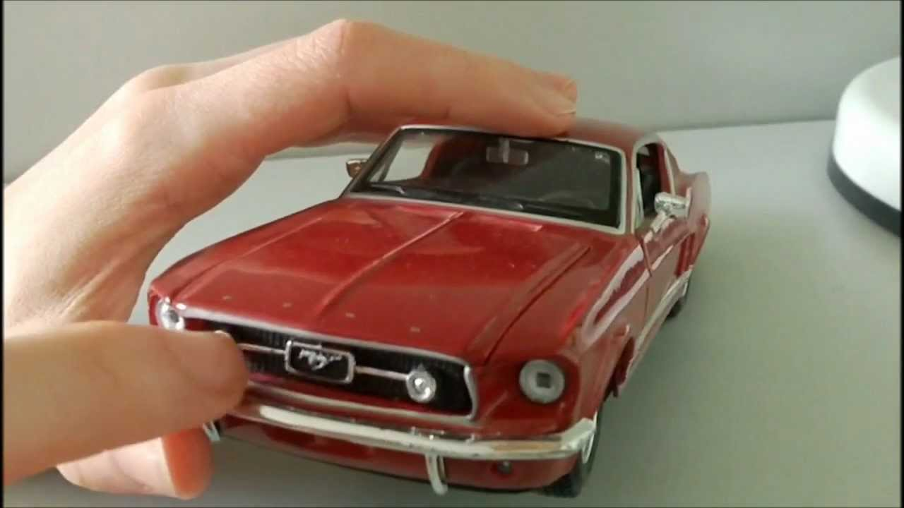1967 Mustang Fastback >> Maisto 1:24 1967 Ford Mustang GT Review - YouTube