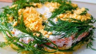 Мимоза. Праздничный салат. Цыганка готовит. Gipsy cuisine.