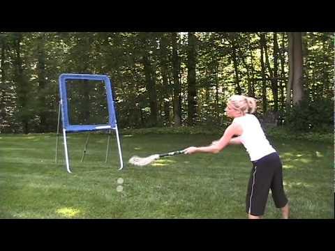 Women's Lacrosse Rebounder Wall Ball - YouTube