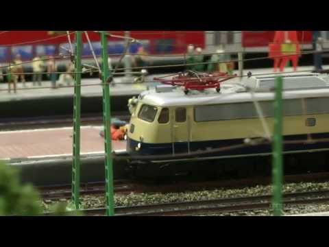 Model Railway Exhibit in HO scale of Hamburg, Germany