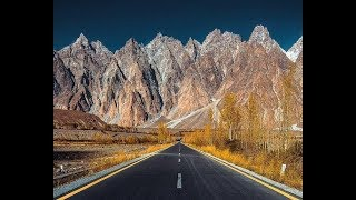 Karakoram Highway Toward Passu cones HD
