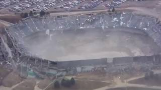 Second attempt at partial implosion of Detroit