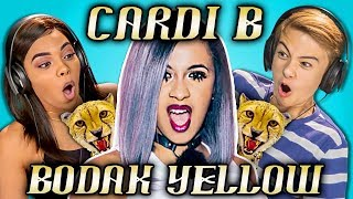 TEENS REACT TO CARDI B - BODAK YELLOW