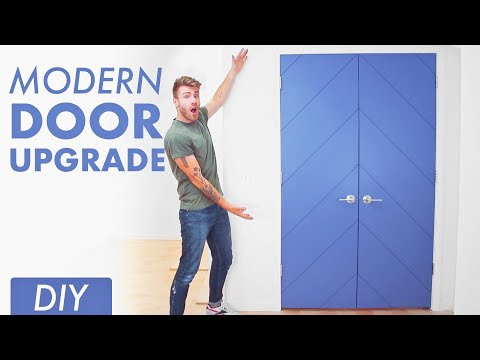 DIY Chevron Door Update // Modern Builds