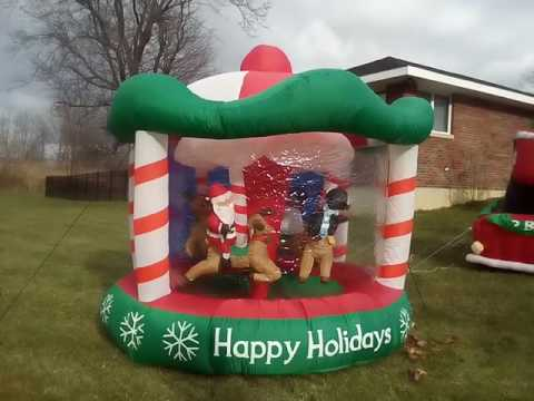 x mas carousel blow up - Funny Blow Up Christmas Decorations