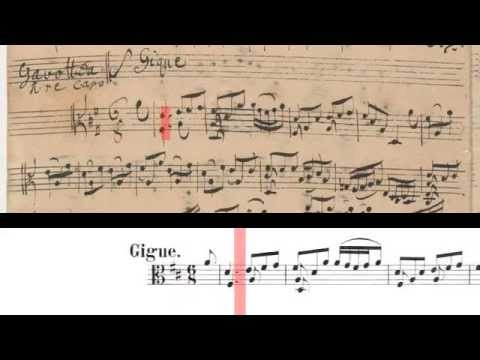 BWV 1012 - Cello Suite No.6 (Scrolling)