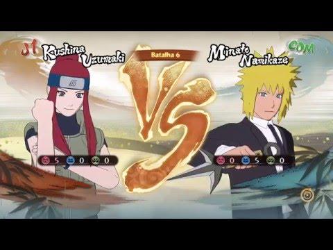 Naruto Storm 4 Dublado PT-BR Kushina Vs Minato