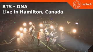 BTS - DNA (Love Yourself World Tour - Hamilton 2018)  First Show in Canada