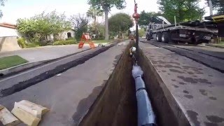 Water Main Line Pipe Installation