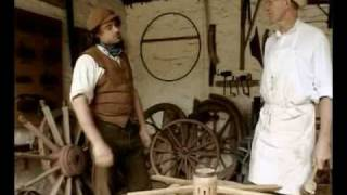 Victorian wheelwright restores wooden wheel