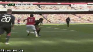 Highlights AC Milan 1-1 Arsenal 31-7-2010