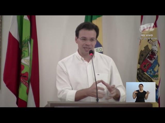 29/10/2019 - Pronunciamento Sessão Ordinária