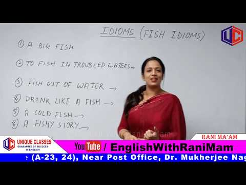 IDIOMS (Fish Based) | Idioms And Phrases With Meanings In English | For SSC & Bank [Hindi] | Part-2