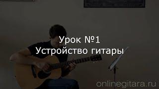 Урок №1. Вводный - Устройство гитары. Видео уроки по гитаре, для новичков. Уроки гитары.