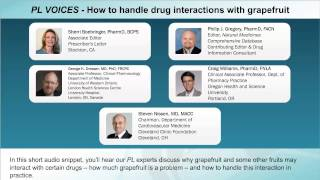 PL VOICES - How to handle drug interactions with grapefruit