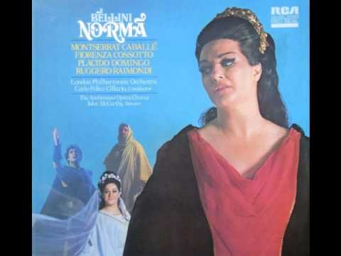 Montserrat caballe casta diva norma v bellini youtube - Norma casta diva bellini ...