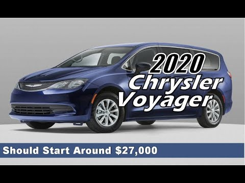 2020 Chrysler Voyager Price Enjoy Pacifia At Low Prices Youtube