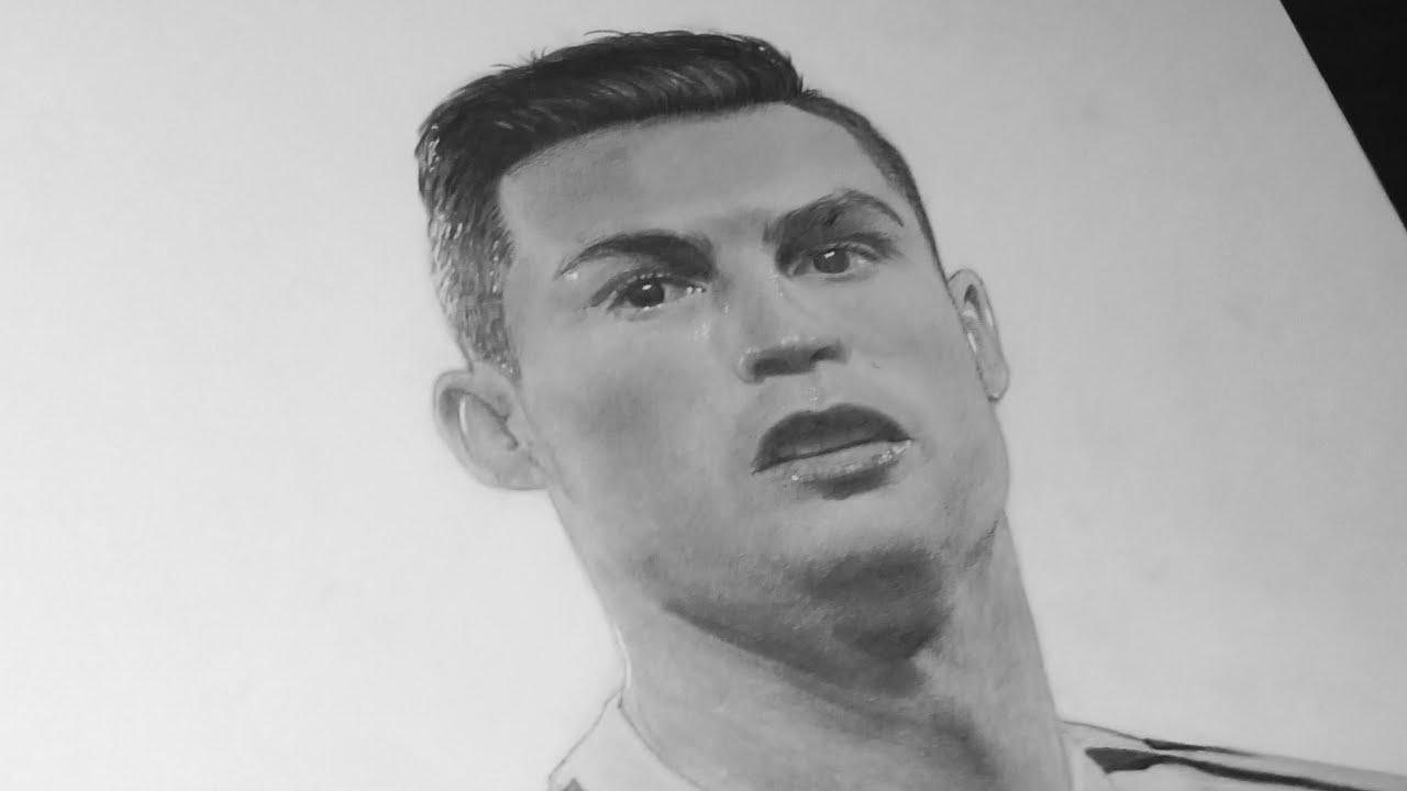 Vẽ Cristiano Ronaldo bằng chì – Draw ronaldo with a pencil