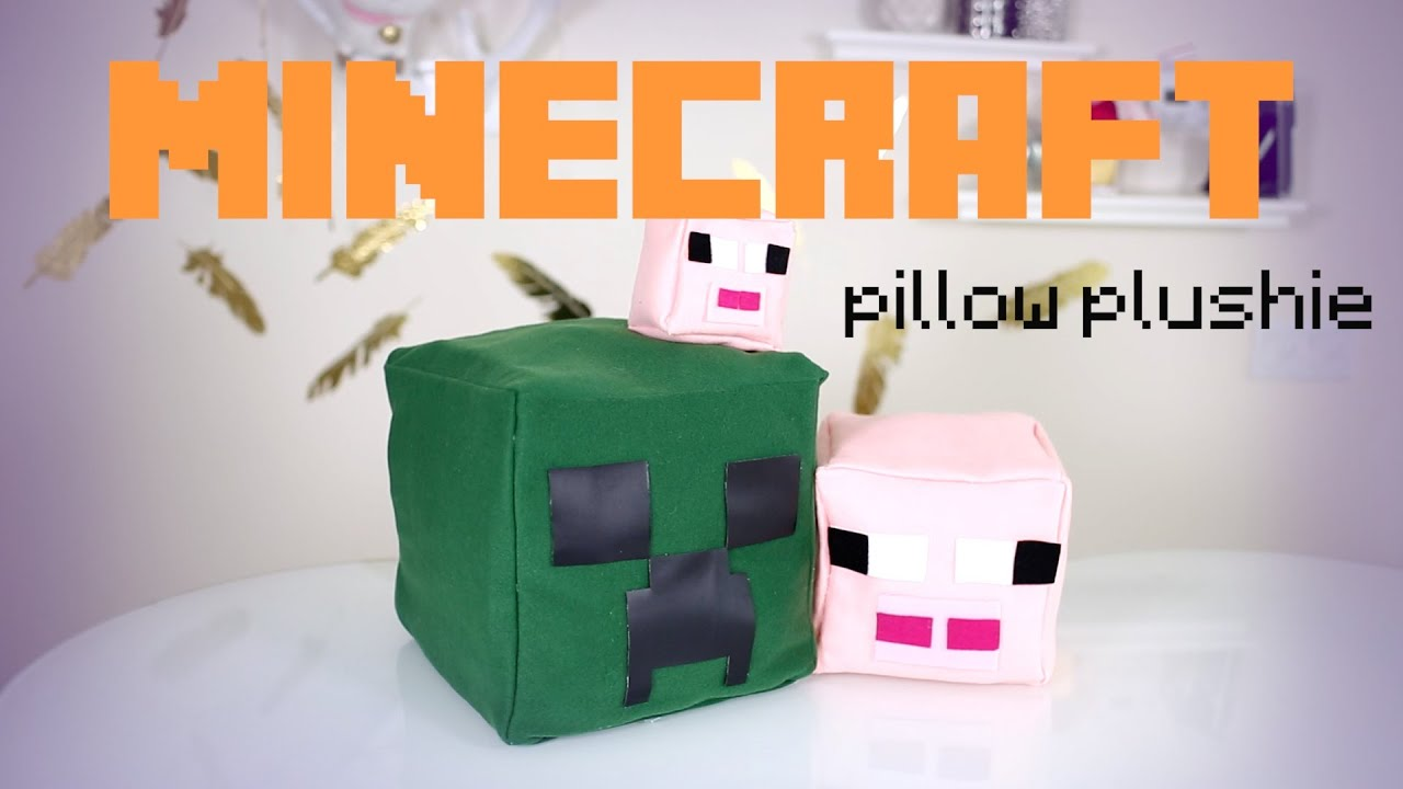 diy minecraft pillow plushies ihascupquake ann le youtube