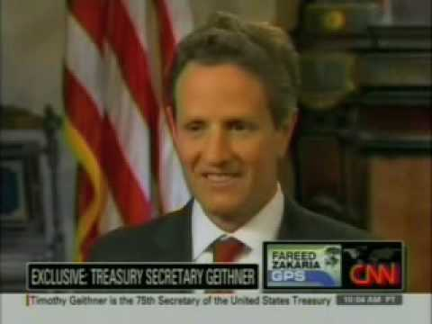 "Treasury Sec. Tim Geithner Says ""I Never Had a Real Job"""