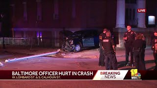 BPD officer injured in on-duty motor vehicle accident
